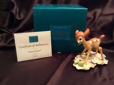 "BAMBI FROM THE WALT DISNEY CLASSIC COLLECTION "" Purty Flower "" WDCC box & COA"