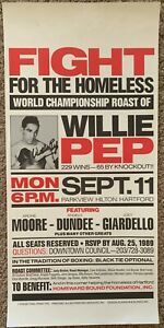 WILLIE PEP SIGNED ORIGINAL CHAMPIONSHIP ROAST POSTER (1989)