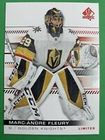 2019-20 Upper Deck SP Authentic Red Limited #16 Marc Andre Fleury Vegas Golden