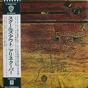 ALICE COOPER, SCHOOL'S OUT, GIMMIX COVER, JAPAN PRESSING WITH OBI