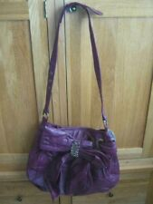 Martine Wester (London) Genuine Leather Tote Bag Plum New With Tag