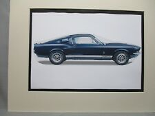 1967 Shelby Mustang GT 500     Artist art Auto Museum Full color  Illustrated