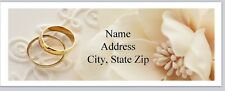 Personalized Address Labels Wedding Rings Buy 3 get 1 free (bx 453)