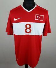 Nihat Kahveci #8 Turkey EURO 2008/2009 NIKE Home Football Shirt Men's Size M