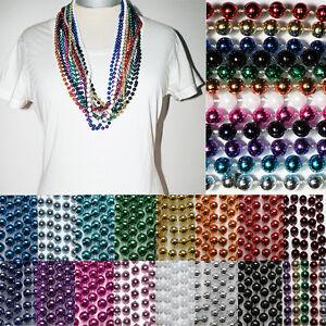 Party Perlen Ketten *6er SET* KUGEL Karneval Charleston 20er MARDIGRAS Farbwahl