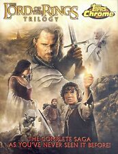 Lord Of The Rings Trilogy Chrome 2004 Topps Promo Promotional Sell Sale Sheet
