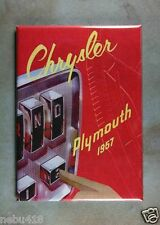 """Vintage Style Ad Fridge Magnet 2 1/2"""" x 3 1/2"""" 1957 Chrysler Plymouth Automatic"""