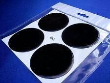 4x Schwarz Embleme für Nabenkappen Felgendeckel 60mm Silikon Aufkleber 3D 1308
