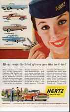 1957 vintage ad for Herz Car Rentals -419