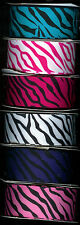 Zebra grosgrain ribbon 1-1/2 inch 2 yards each of 6 colors or you choose.