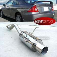 Fits 01-05 Civic 2DR 4DR Stainless Steel Bolt On Axle Back Exhaust Muffler