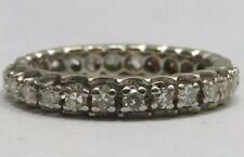 Antico 18ct ORO 1.05ct diamante pieno eternità anello