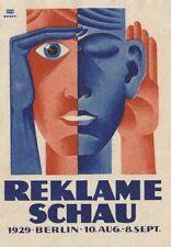 Modernist Poster Stamp Rekleme Schau Bauhaus H- Fritz Rosen Lucien Bernard 1929