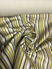 SUPER LUXURIOUS CURTAIN UPHOLSTERY FABRIC BY PANAZ YELLOW STRIPE 7.5 METRES