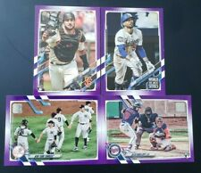 2021 Topps Series 1 and 2 PURPLE Border Parallels with Rookies You Pick