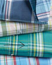 NEW Haband Men Size Medium Plaid Check Shirt Short Sleeve Button Front