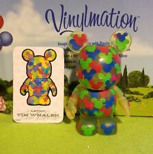 "Disney Vinylmation 3"" Park Set 2 Urban Confetti Mickey Mouse with Card"