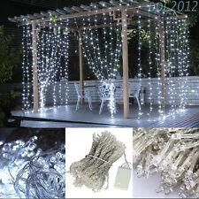 3mx3m /6mx4m 600led String Fairy Lights Net Mesh Curtain Chrismas Wedding Party Blue【6mx4m 600led】