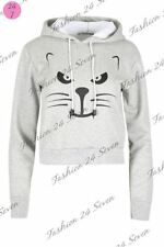 Unbranded Cats Cotton Long Sleeve T-Shirts for Women