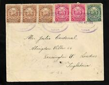 NICARAGUA LEON TO UK MULTIFRANKING COVER 1906