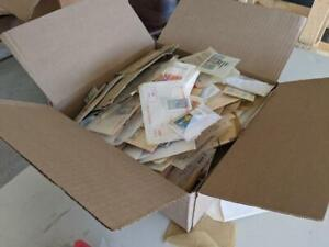 Box with 1,000's of Worldwide Mint & Used Stamps - No Reserve!