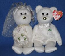 TY HIS & HER BEANIE BABY BEAR WEDDING SET - MINT with MINT TAGS
