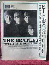 """The Beatles Band Score for """"With the Beatles"""" songbook (very good) Odeon Japan"""