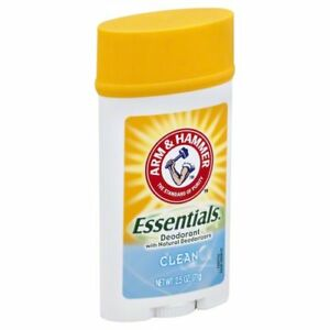 Arm & Hammer Essentials Deodorant, Clean, 2.5 oz (3 Pack)