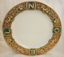 American Atelier NOEL Christmas Red Berries Green Marble Fruit LG Round Platter