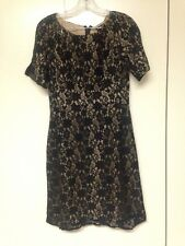 NWT ABS Allen Schwartz Black Lace Short Dress Short Sleeves, size 6
