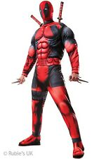 Deluxe Deadpool Superhero Fancy Dress Outfit Costume Size XL P9740