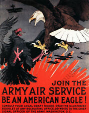 Join The Army Air Service vintage poster repro 16x20