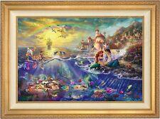 Thomas Kinkade Little Mermaid 18 x 27 LE Standard Number Canvas (Gold Frame)