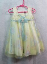 Girls Bunny & Dino Yellow Floral Dress Size 24 Months