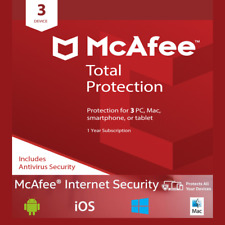 McAfee Total Protection 2018 3PC/MAC/TABLET 1YEAR WORLDWIDE ANTIVIRUS
