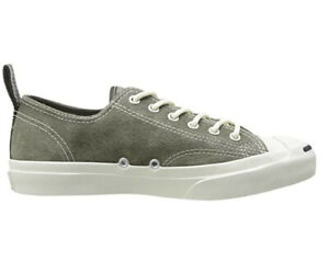 Converse Unisex Jack Purcell LTT Ox Leather Shoes Charcoal Umber Grey