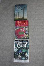 3 books for age 10+ Harry Potter 1, Skulduggery Pleasant, Boy in the Striped PJs