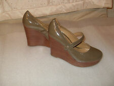 BERTIE SZ 4 MUSHROOM PATENT 4.5 INCH WEDGE T BAR ROUND TOE SHOES STYLE QUALITY