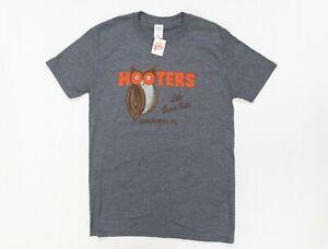 Hooters Lake Beuna Vista Orlando Florida Distressed Dark Heather T Shirt Size M
