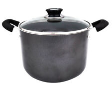 8 Quart Non Stick Aluminum Stock Pot With Tempered Glass  Lid