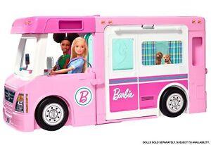 Barbie 3-in-1 Super Abenteuer-Camper, Barbie Auto, Barbie Wohnmobil, Wohnwagen