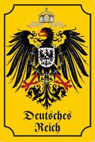 Imperio Alemán Letrero de Metal Placa Signo Arqueado Cartel Lata 20 X 30Cm