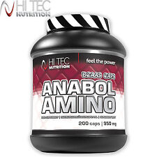Anabol Amino 200 Caps. BCAA Anabolic Anticatabolic Ripped Muscle Mass Growth