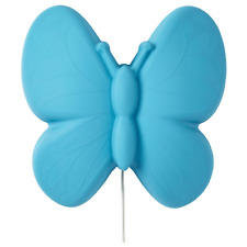 IKEA Upplyst LED Wall Lamp Butterfly Light Blue 704.407.98