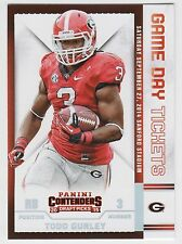 TODD GURLEY 2015 Panini Contenders Draft Picks Game Day Tickets #46 Bulldogs