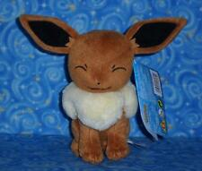 Happy Eevee Pokemon Plush Doll Toy Official Tomy 2016 Brand New with Tags USA