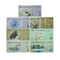 7cs Arctic Territories Animal Paper Money Souvenir Banknotes Pollar Dollars