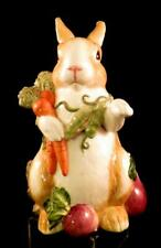 "Fitz & Floyd Classics Spring Bunny Rabbit Cookie Jar~La Marche~11"" High~DARLING!"