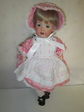 Adorable Ges Gesch Doll Porcelain Open Mouth w/ Teeth Blonde Blue Eyes