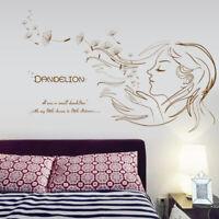 Dreamy Dandelion Girl Wall Sticker Decal Vinyl Mural Removable Home Room Decor